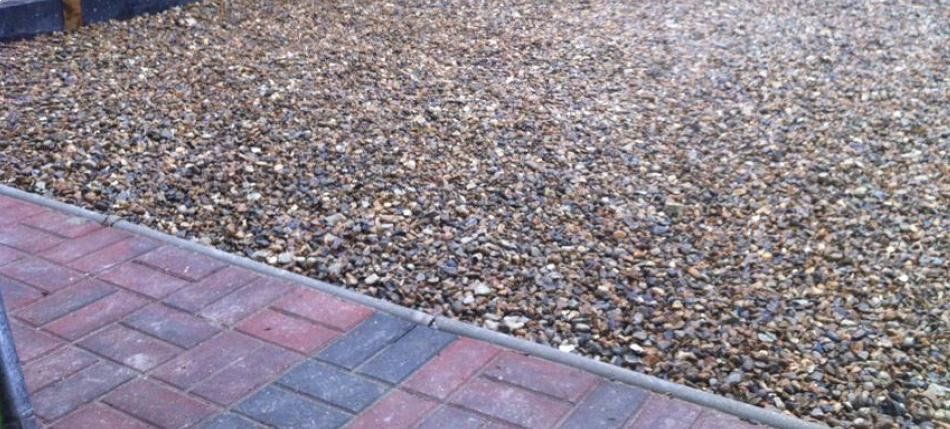 Shingle driveway construction